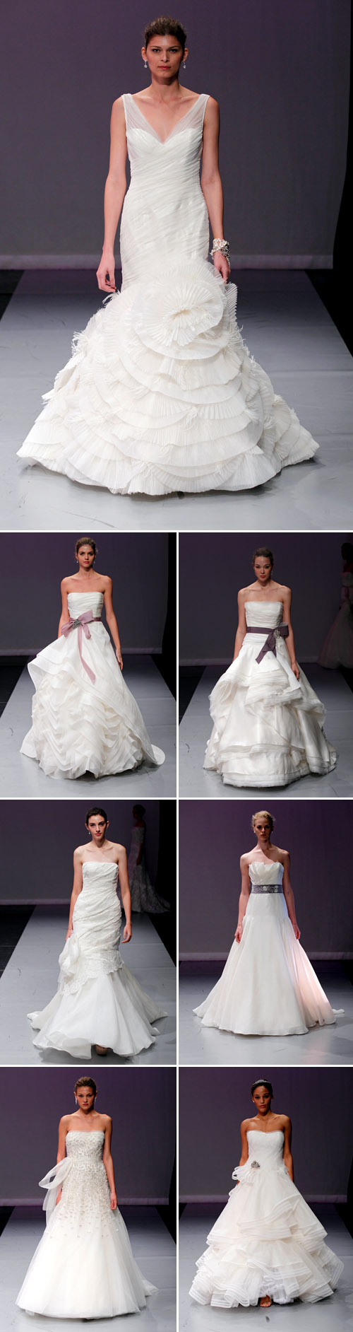 glamorous wedding dresses from Rivini Fall/Winter 2012 bridal market runway show