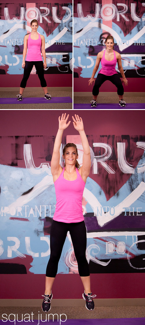 bridal fitness exercises, squat jump, from Sassy Fit