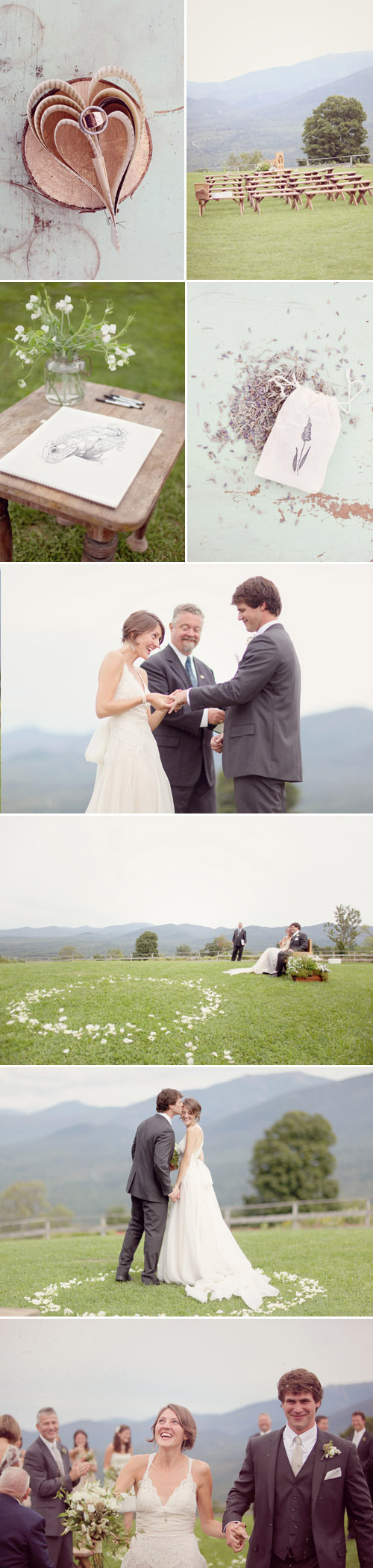 simple and natural mountain wedding at Toad Hill Farm in Franconia, NH, real wedding photos by Simply Bloom Photography