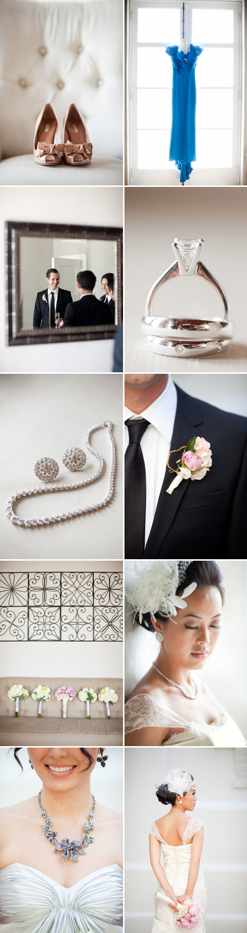 Bright White, Charcoal and Cream Wedding at Vibiana in LA - Tram and ...