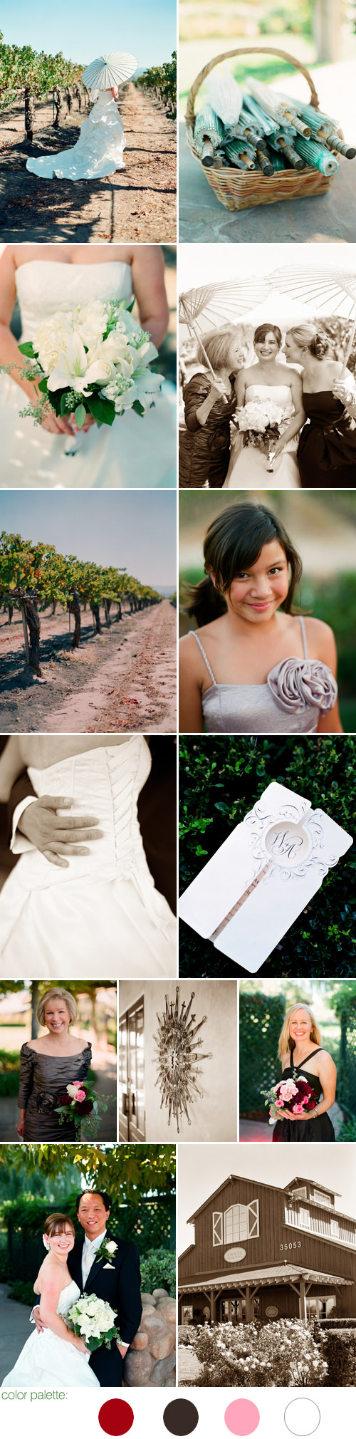 romantic fall vineyard wedding at the Ponte Family Estate Winery in Temecula, CA, photos by Ulrica Wihlborg