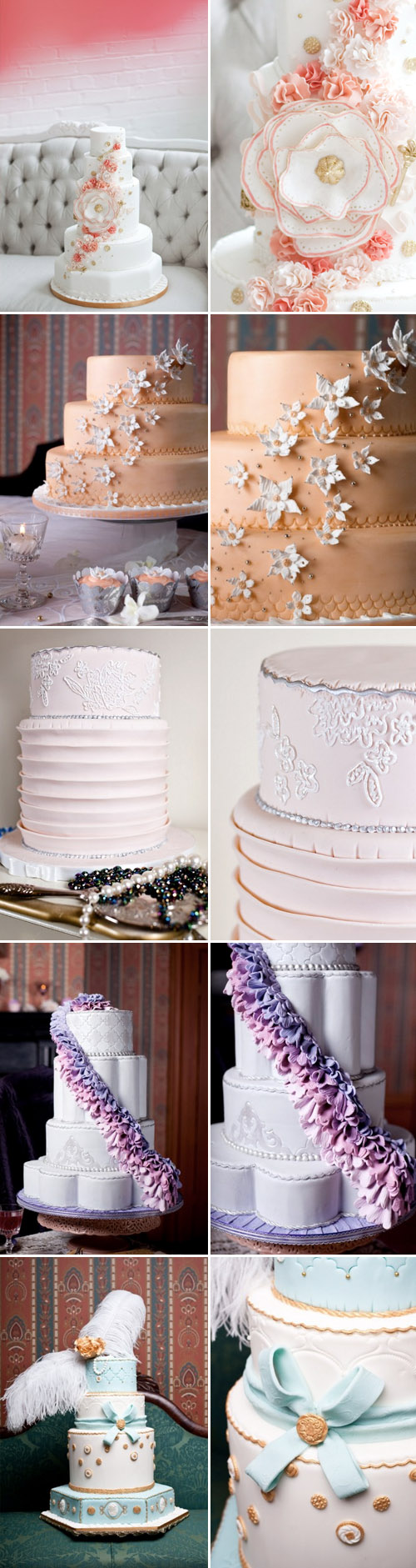 amazing fashion inspired wedding cakes from Lori Hutchinson of Toronto's The Caketress