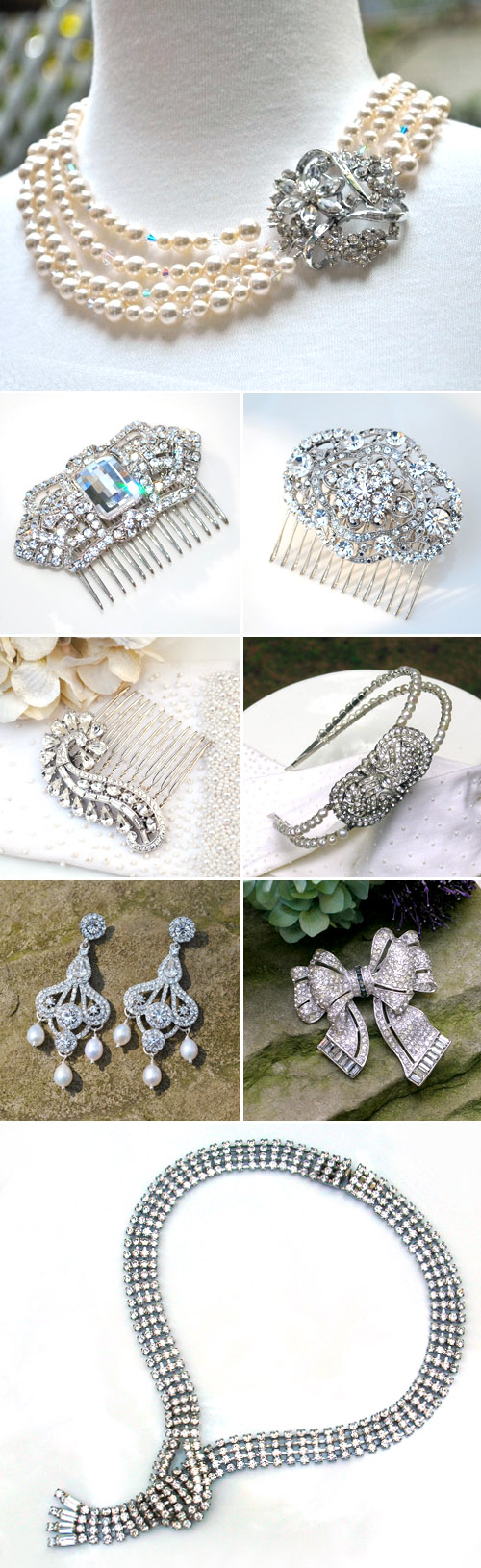 vintage and vintage-inspired wedding jewelry and accessories from Bel Canto Designs