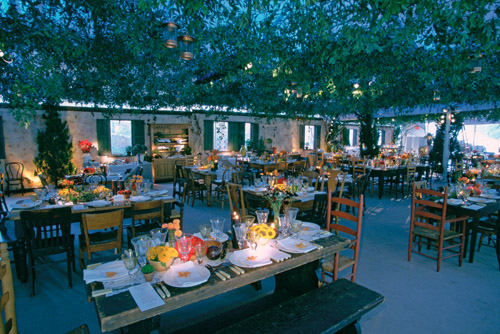 amazing outdoor wedding reception lighting design by Bentley Meeker from his Light X Design book