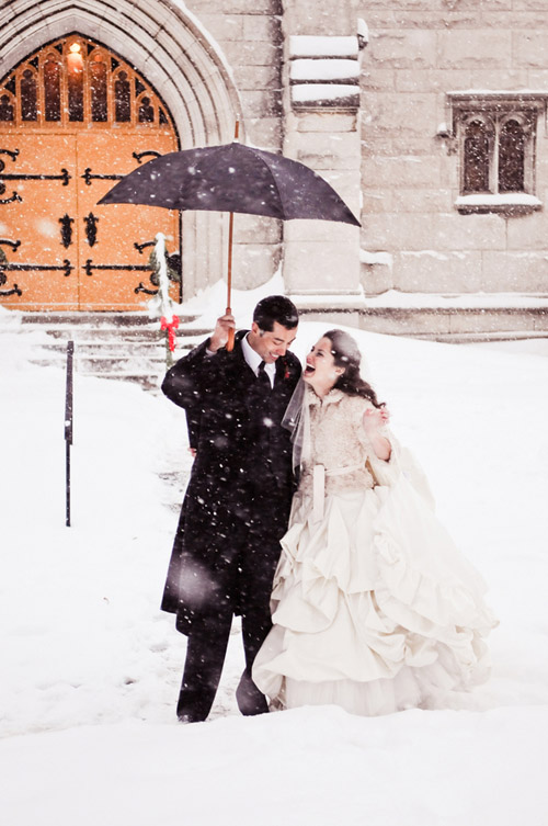 Washington DC winter wedding in a snow storm, photography by Rebekah J. Murray