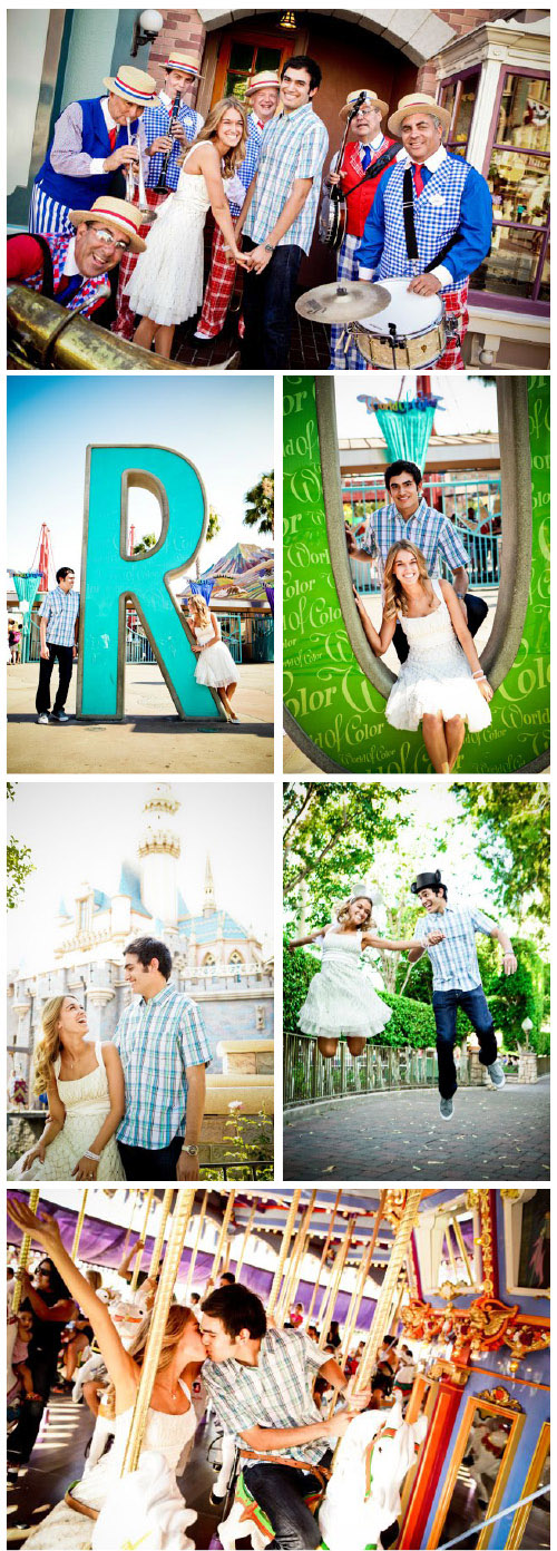 Disney Land engagement session featured on the Bridal Bar blog, photos by Beautiful Day Photography