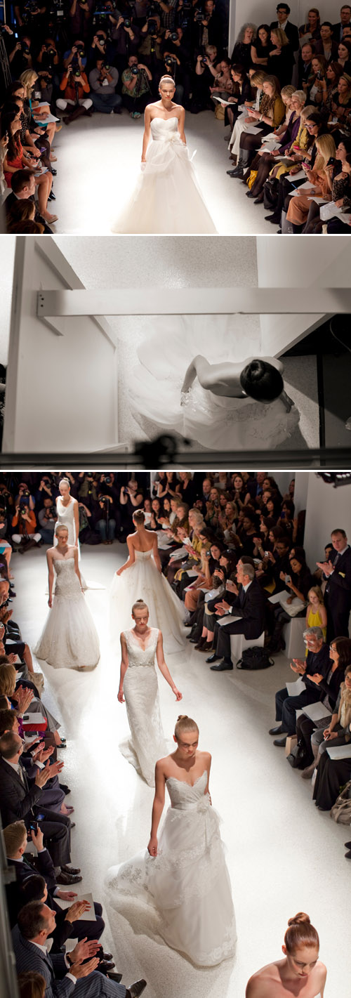 backstage photos at Christos wedding fashion show during NYC bridal market 2011, photos by Merri Cyr and Mark Walker of Merri Cyr Weddings