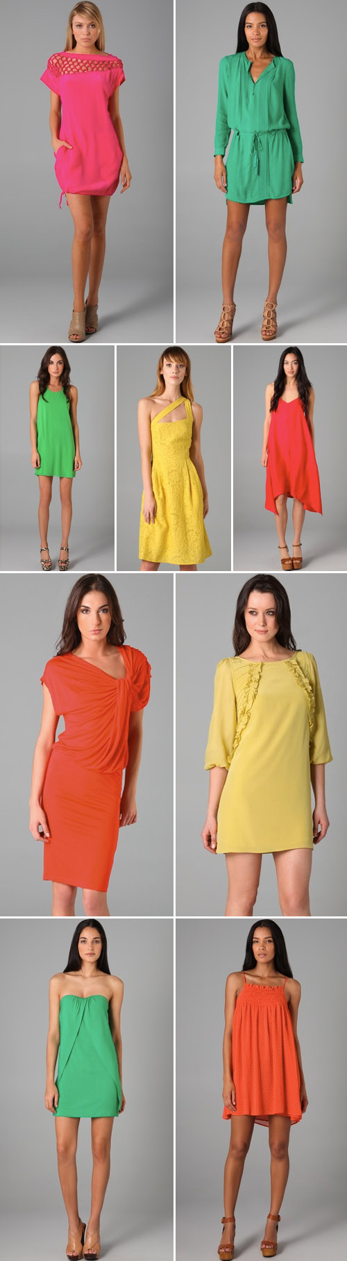 bright color spring and summer dresses from Shopbop.com