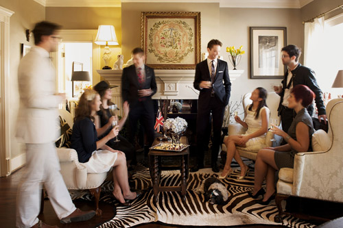 Sophisticated And Stylish British Engagement Party