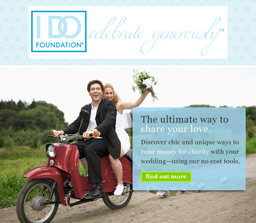 Charitable wedding registries and gifts from the I Do Foundation