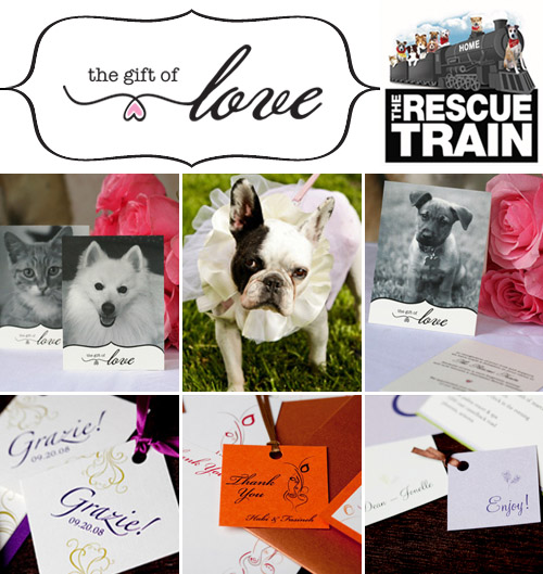 Charitable wedding registries and gifts from Rescue Train's The Gift of Love