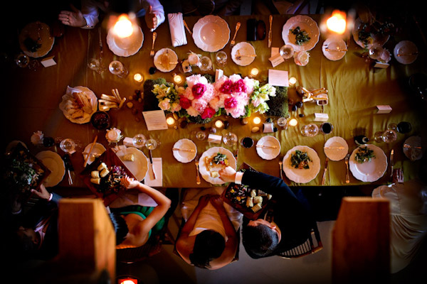 the dinner table, photo by Chrisman Studios