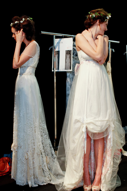 Claire Pettibone wedding dress fashion show at NYC bridal market 2011, photos by Merri Cyr and Mark Walker from Merri Cyr Weddings