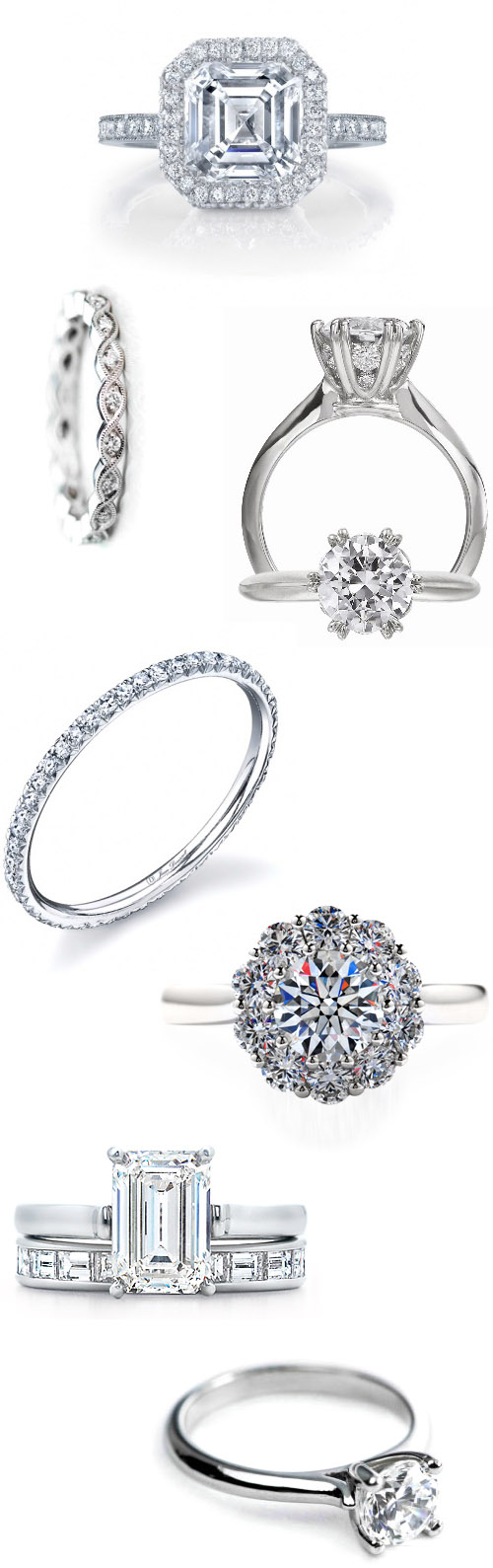 classic, traditional diamond engagement rings