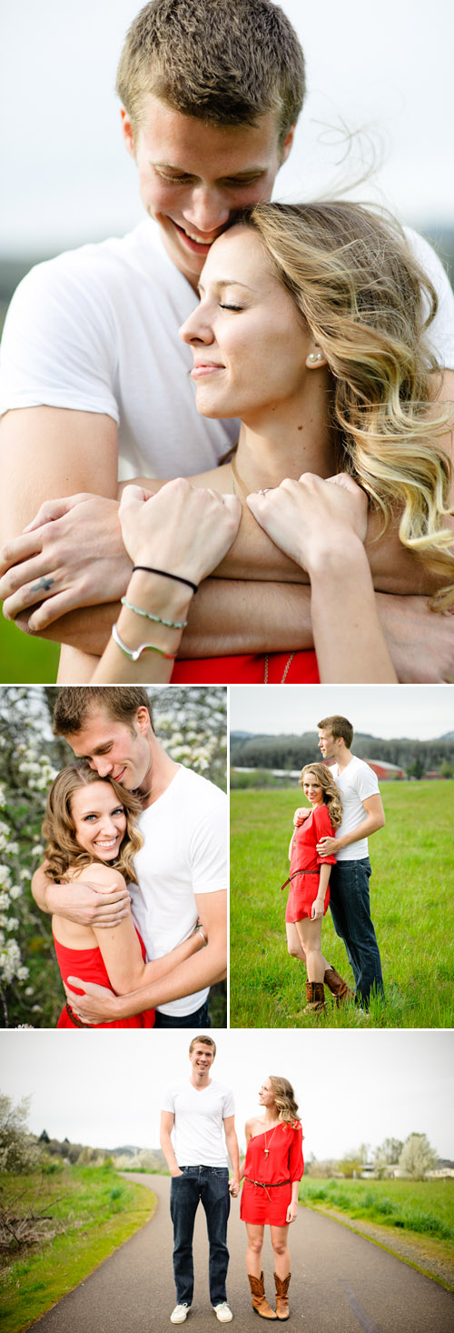 Creative engagement photo shoot in downtown Corvallis, OR, photographed by Aaron Courter Photography