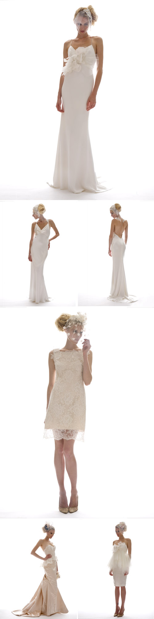 pretty Elizabeth Fillmore wedding dresses, perfect for destination weddings, Fall 2012 wedding dress and accessory collection