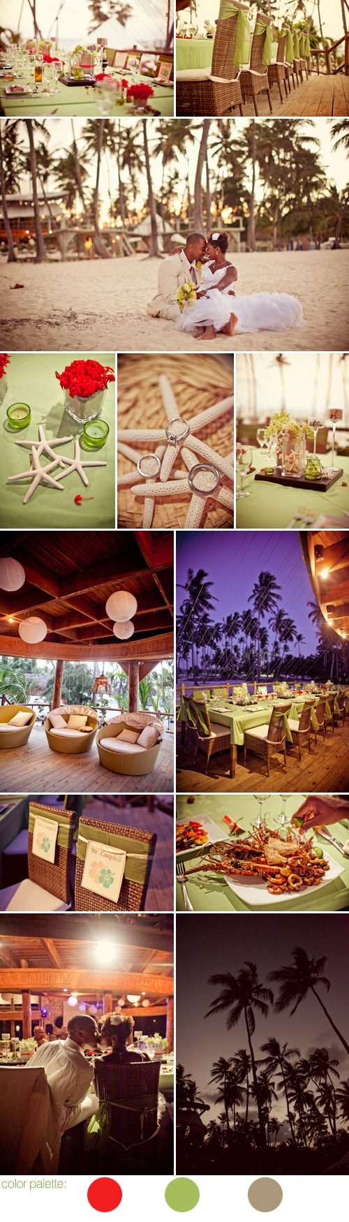 stylish tropical beach destination wedding in Punta Cana, Dominican Republic, photos by SB Childs Photography