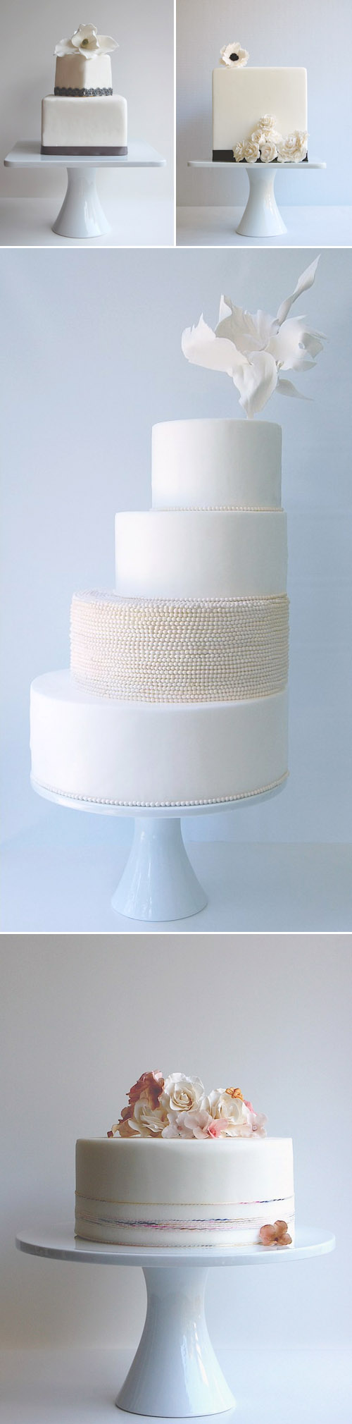 elegant, couture wedding cakes from Magpie's Cake, Washington, D.C.