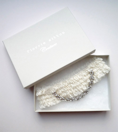 Couture Garters For Wedding: Embellished Florrie Mitton Couture Wedding Garters