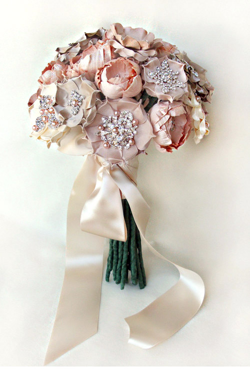 Silk Handmade Flower Bouquets And Bridal Accessories From Emici
