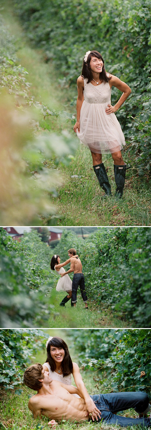 Mountain orchard wedding