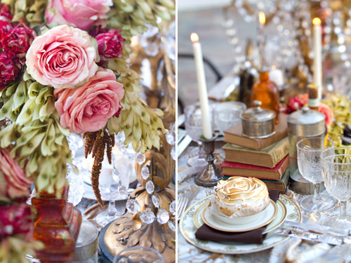 Elegant old-world European inspired wedding decor and tablescape, china and tabletop rentals from Small Masterpiece, images by Isabel Lawrence Photographers