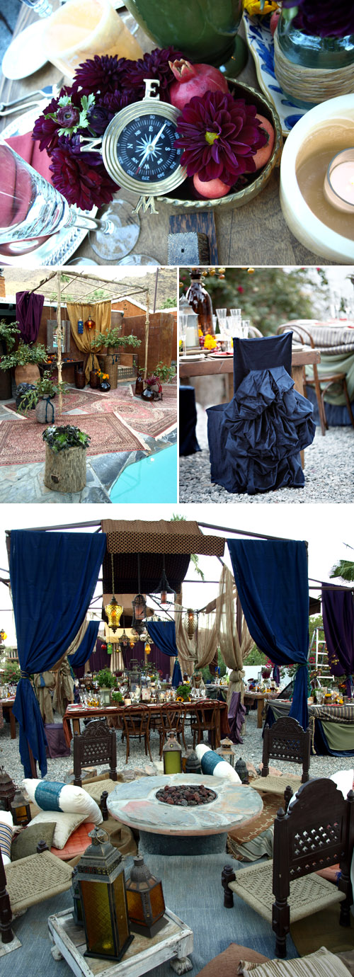 wedding decor inspired by exotic old-world nautical ports and gypsy travelers, event design, planning and production by Kristin Banta Events, photos by Miki & Sonja