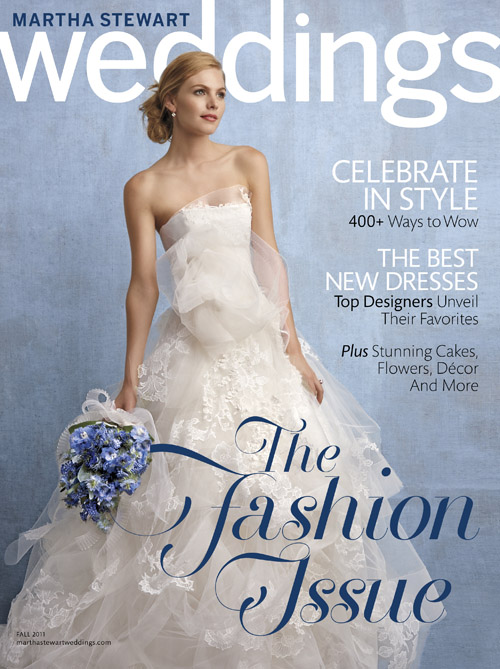 Fall 2011 Martha Stewart Weddings magazine cover