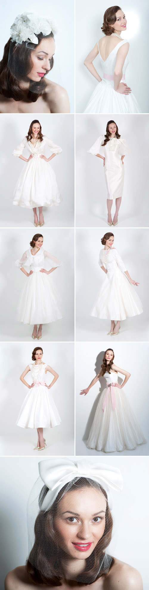 vintage style wedding dresses, veils and accessories from Fancy New York