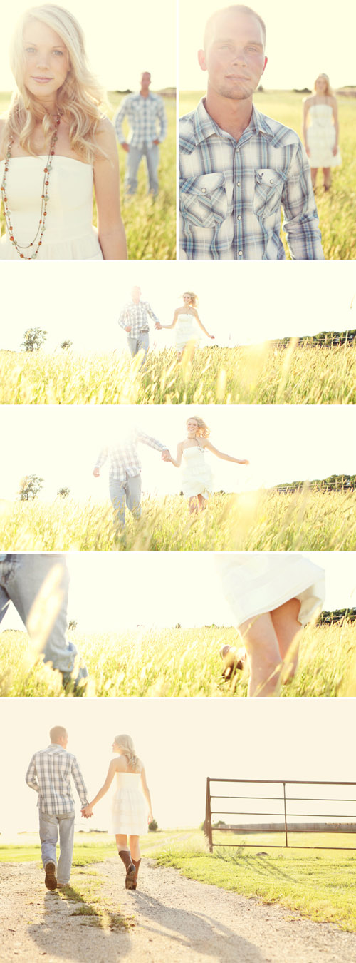 sweet and stylish farm wedding engagement photo shoot by Anna Jaye Photography