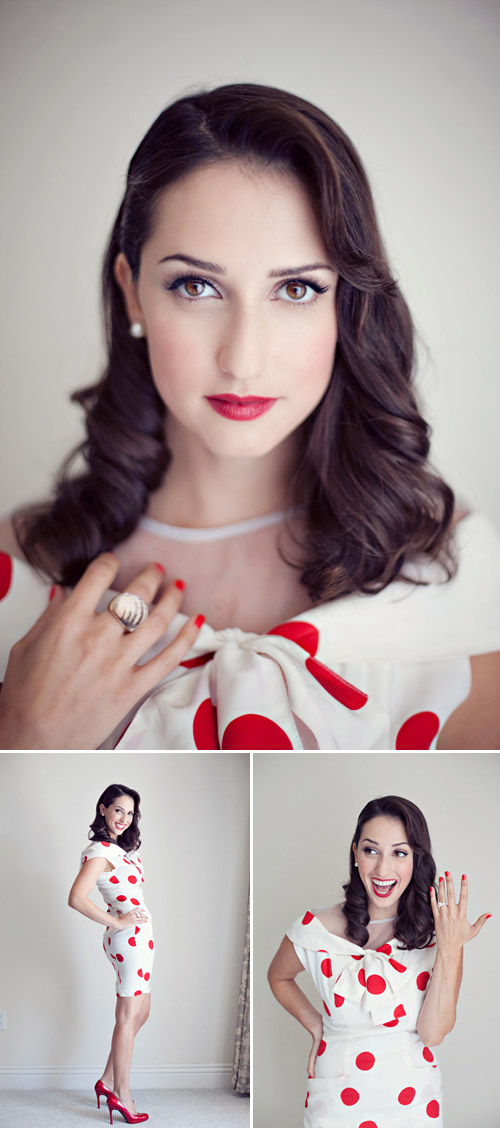 vintage inspired hair and makeup idea from Fiore Beauty, image by Heather Kincaid Photography