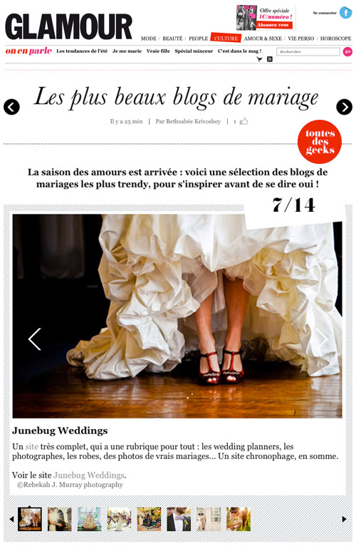 French Glamour.com's best wedding blogs