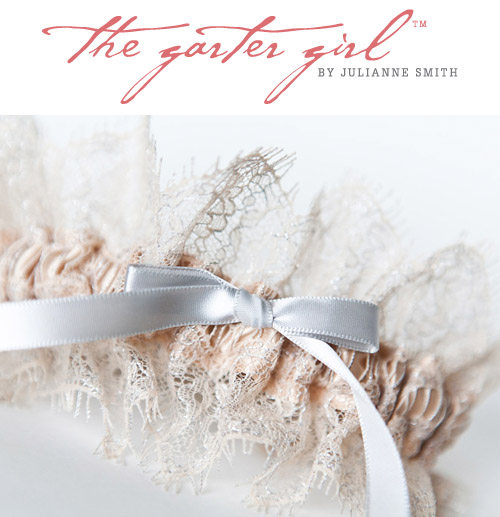 stylish bridal garters from The Garter Girl