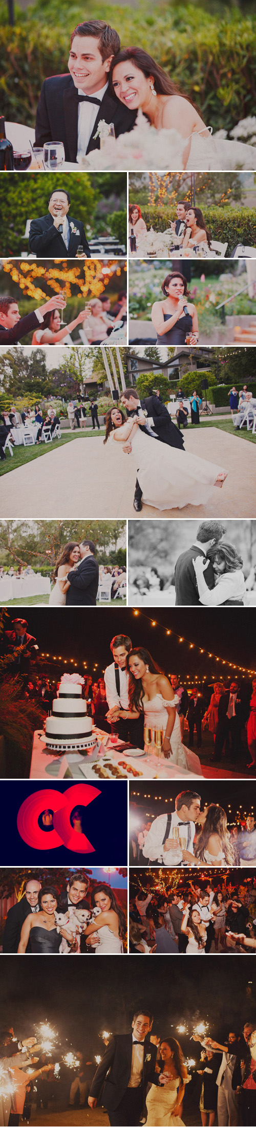 blush pink, dove gray, black and white Great Gatsby and Coco Chanel inspired wedding at Maravilla Gardens, California, photos by Christine Farah Photography