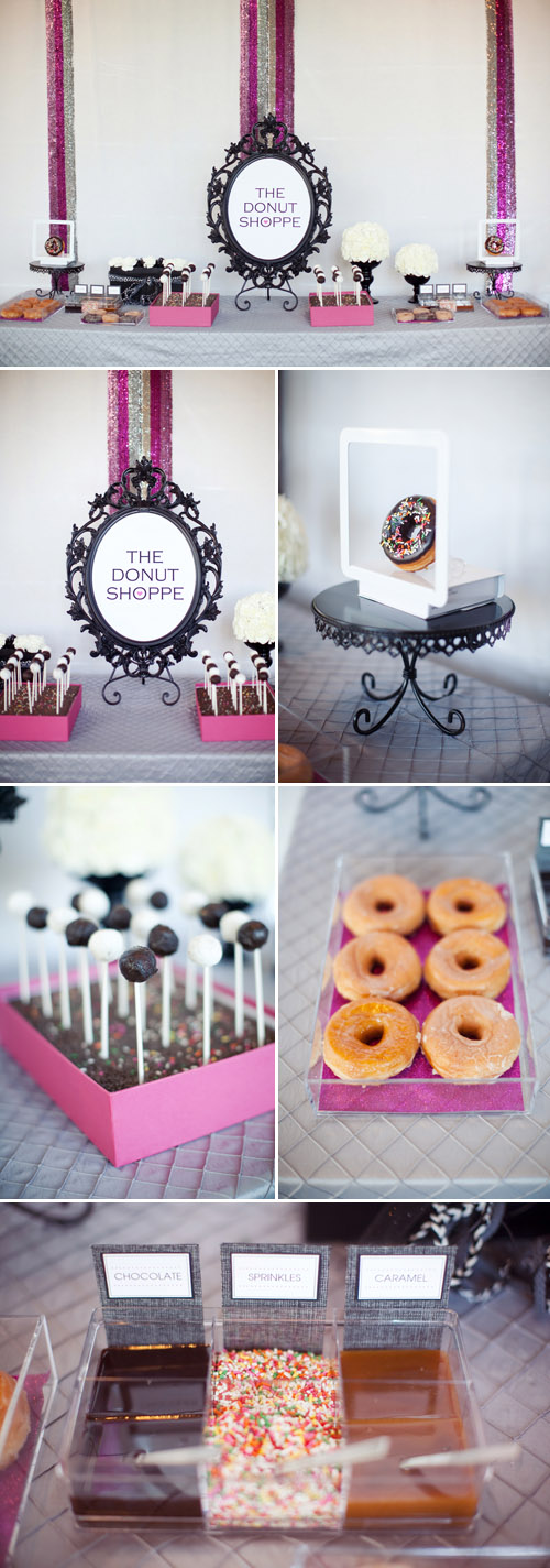 stylish, hip, modern wedding style inspiration at the W Hotel Scottsdale from Outstanding Occasions and Melissa Jill Photography - black, white, gray and pink wedding color ideas