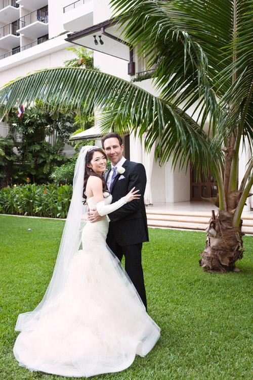 Purple, Lavender and White Honolulu, Hawaii Wedding | Junebug Weddings