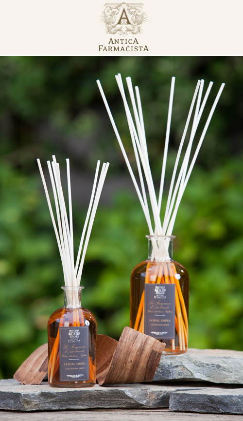 Home Ambiance Diffuser in Sandalwood Amber from Antica Farmacista