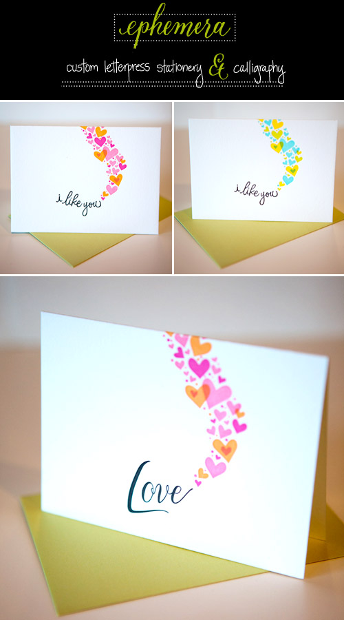 letterpress thank you notes form Ephemera Custom Letterpress and Calligraphy