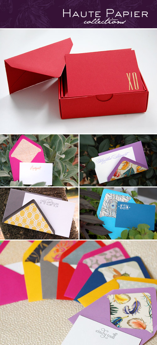Haute Papier's bold and beautiful letterpress enclosure notes