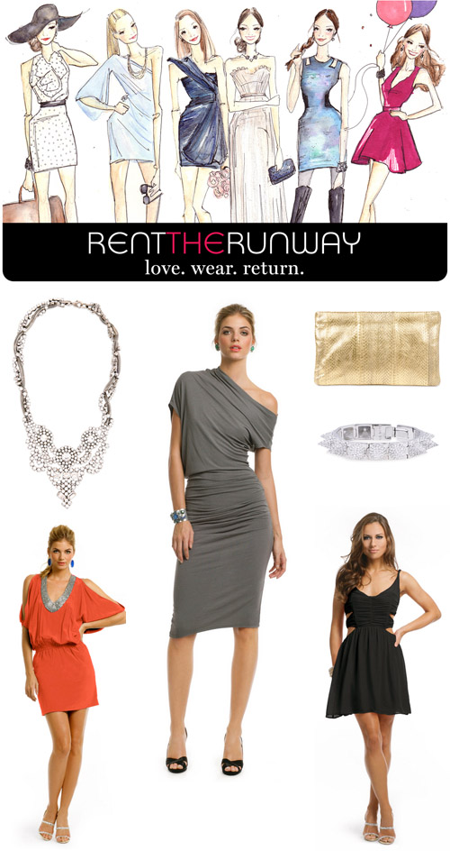 designer clothing and accessory rentals from Rent the Runway