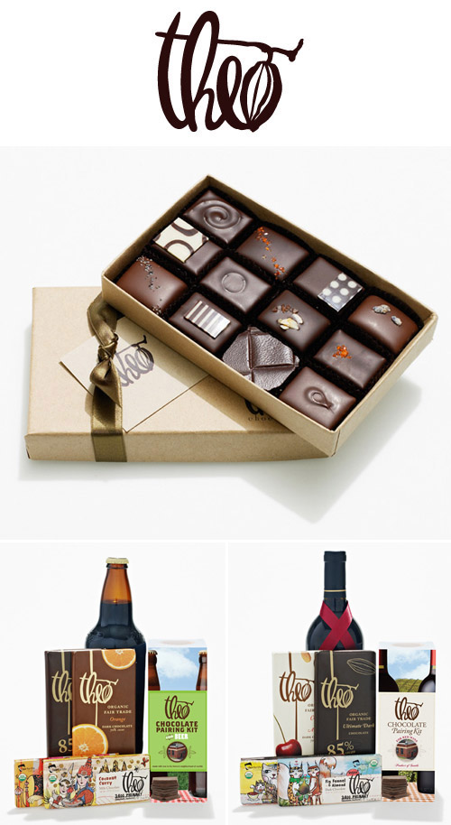 organic chocolate confections and beer and wine pairing kits from Theo Chocolate