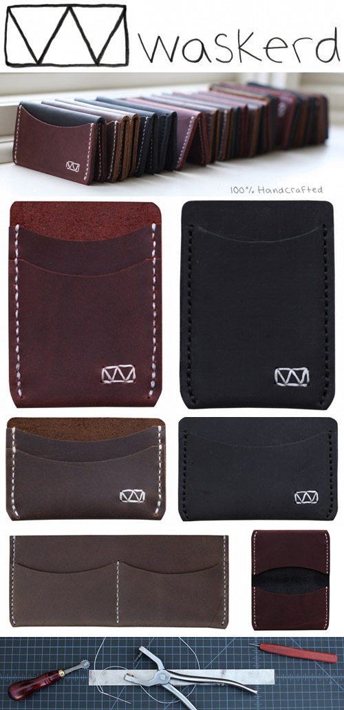 handmade leather wallets from Waskerd