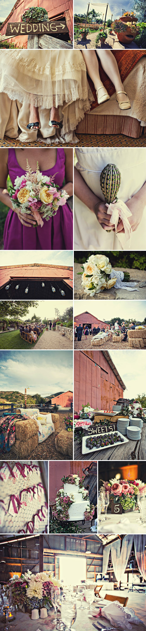 stylish rustic wedding at Ojai Valley Inn by Jill La Fleur, images by Joy Marie Photography