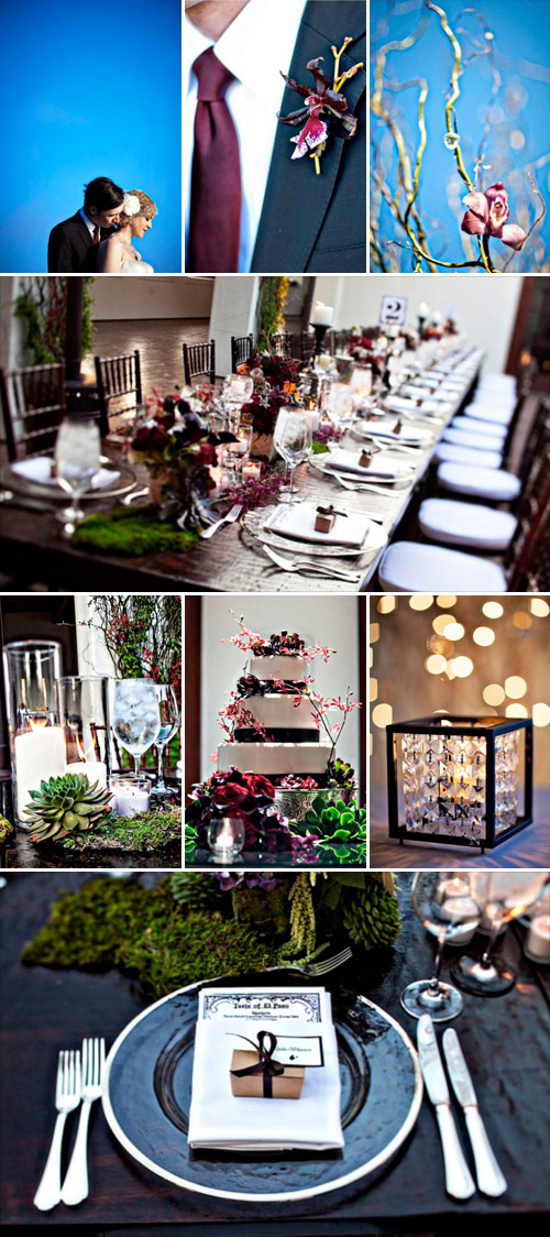 dramatic and stylish wedding coordinated by Jill La Fleur, images by Joy Marie Photography