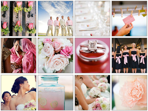 Junebug Weddings image gallery pink wedding color palette