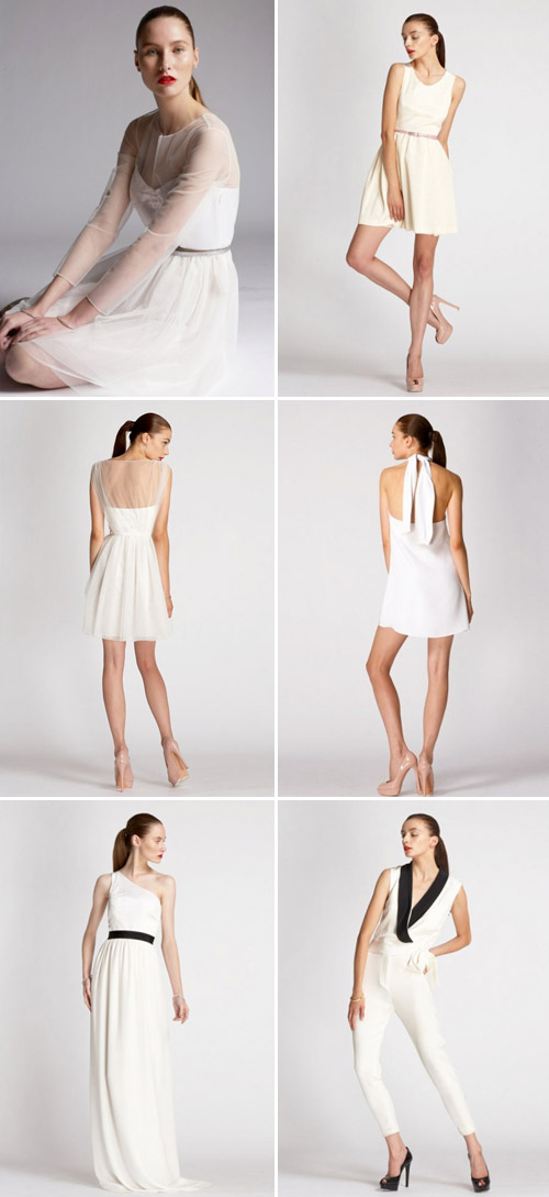 stylish modern wedding dresses and bridesmaids dresses from Kara Janx