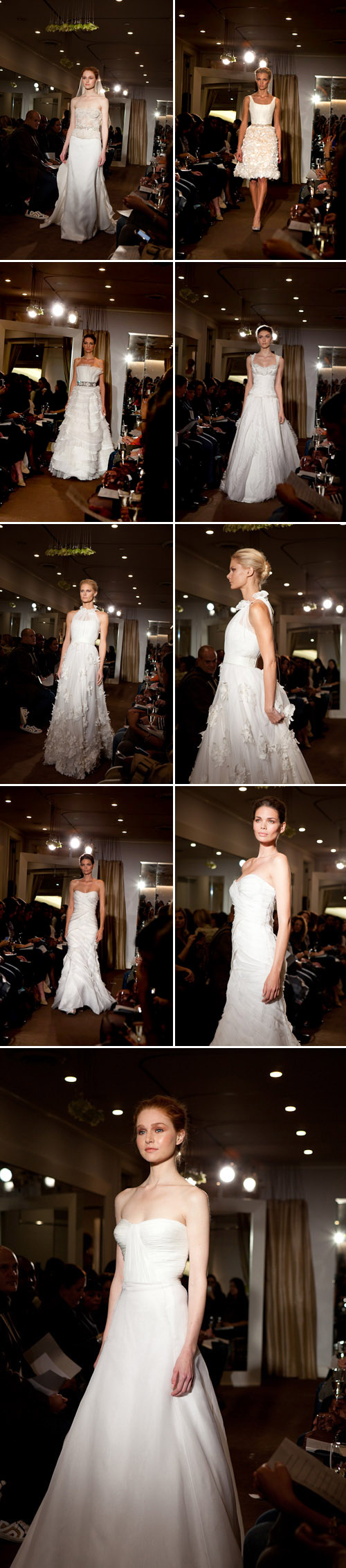 Kevan Hall Spring 2011 bridal collection, beautiful spring wedding dresses from top red carpet designer, images by Junebug Weddings