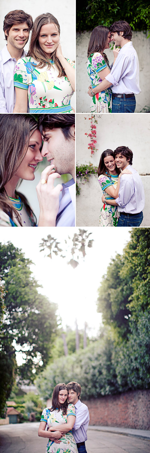 Stylish Los Angeles engagement photos in Los Feliz and Griffith Park by San Francisco based wedding photographer Meg Perotti