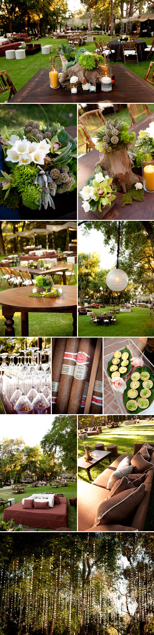 elegant and rustic los angeles garden party floral design and decor by