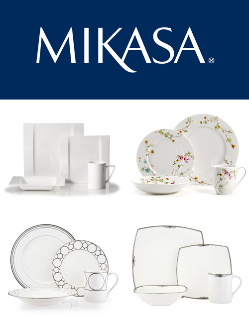 modern dinnerware for your bridal registry from Mikasa